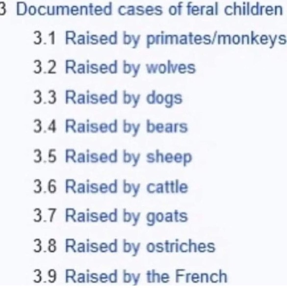 Raised by the French