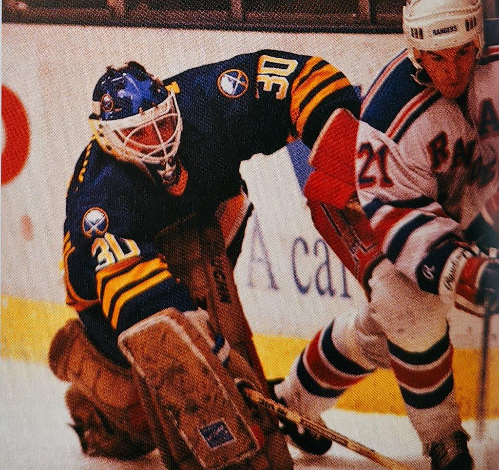Clint Malarchuk Buffalo Sabres Picture From Hockey Chronicles 1988-89 @BuffaloSabres @cmalarchuk #NHL #LetsGoBuffalo