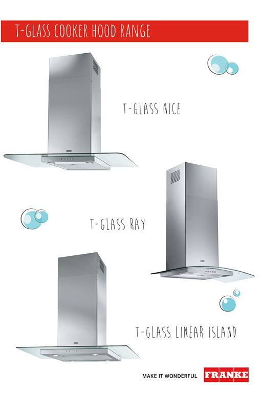 The Franke T-Glass range of cooker hoods offers great style at a great price. The timeless glass and stainless steel design will suit all kinds of kitchens. ow.ly/uVqe50FXKzW