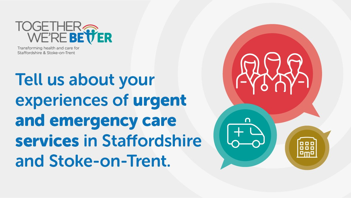 We want to hear your views on how we should design Urgent Treatment Centres (UTCs) for Staffordshire. UTCs will help you get high quality care when it's urgent, but not life-threatening. Get involved and have your say: tinyurl.com/2697r8vt