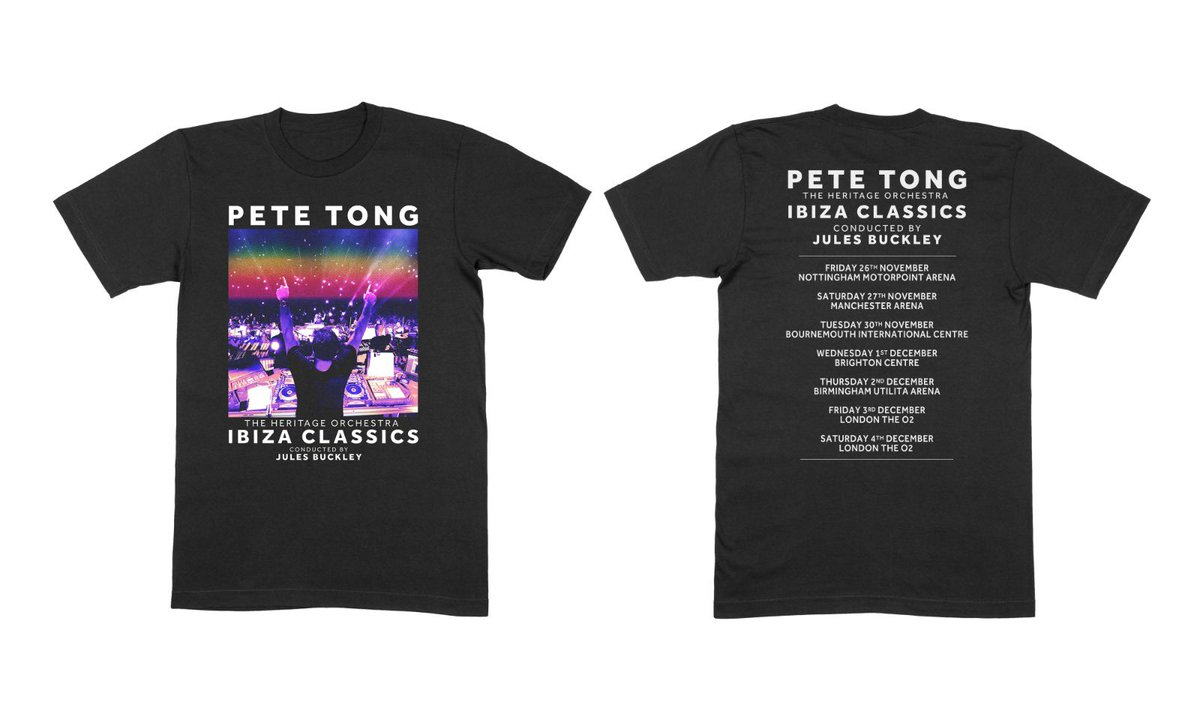 The @IbizaClassics_ tour kicks off in 2 months... You can already order the tour T-Shirt from my online store: store.petetong.com