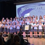 the amazing year 7s and 8s' house choral on Friday! this was our last event as house leaders it has been a privilege to lead teresa we hope you had fun and good luck to the new leaders who will be taking over from tomorrow! Nadia, Ariadne, Tegan and Rachel 💙💙 @SHSHouses