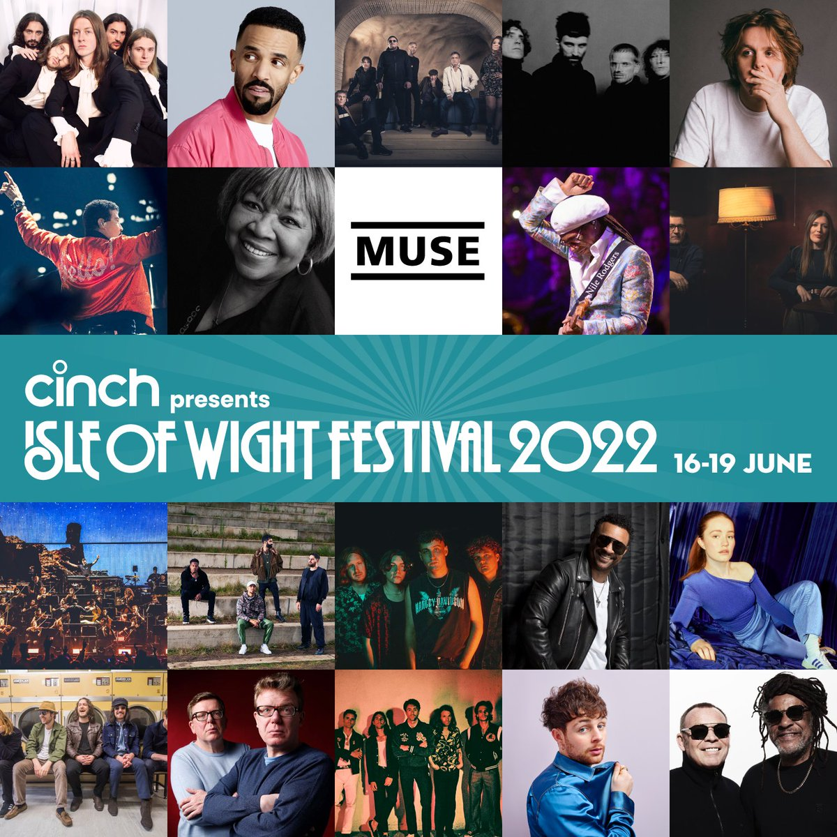 Check out our brand new #IOW2022 Spotify playlist featuring artists from our incredible line up including @LewisCapaldi, @muse, @KasabianHQ, @LionelRichie, @petetong, @thisissigrid, @Rudimental + many many more! Listen here: open.spotify.com/playlist/07iFb… #cinchxIOW