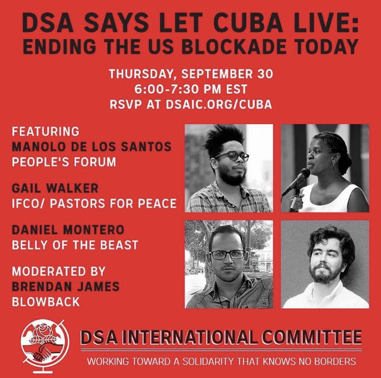 Tomorrow! Our own producer, Daniel Montero will be in conversation with @manolo_realengo @GailWalker_IFCO and @deep_beige! Don't miss out listening to clear voices speaking on Cuba 🇨🇺