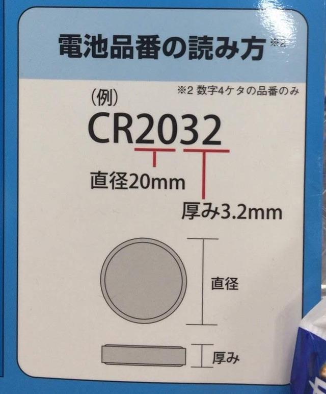 そうだったのか!ボタン電池の品番を見るだけで直径や厚みがわかる!