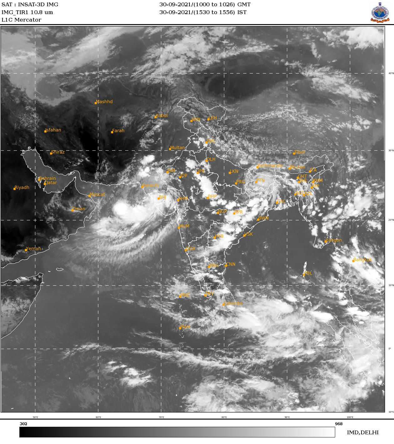 Rainy condition is expected to enhance over most parts of Sri Lanka during October 1 and  and 2 October due to low level atmospheric disturbance in the vicinity of Sri Lanka.