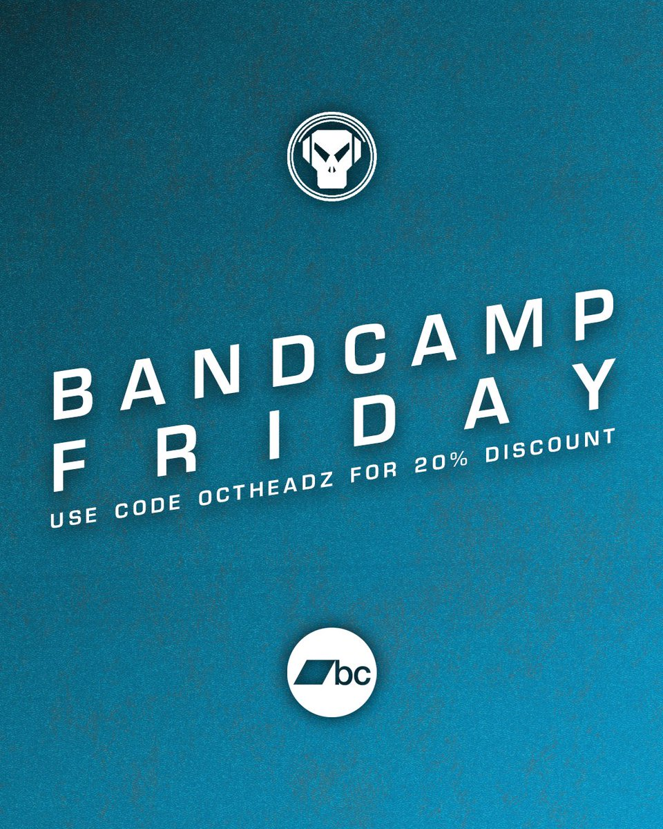 It's Bandcamp Friday! 📢 That means for the next 24 hours Bandcamp are waiving their revenue share and passing all profits directly to artists and labels. We're also offering 20% discount on ALL products with code 'octheadz' 😎 metalheadz.bandcamp.com
