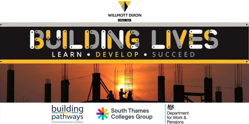A fantastic opportunity for residents of Merton and Sutton: @WillmottDixon's Building Lives Academy offers entry level qualifications and work experience to undertake a career in construction. If you are unemployed and 19-24, find out more and apply today https://t.co/NEENDLQhid