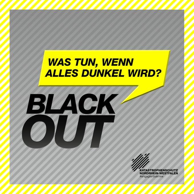 Was tun, wenn alles dunkel wird? Blackout