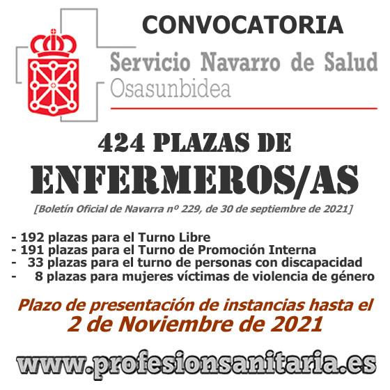 Convocatoria de 424 plazas de ENFERMEROS/AS del OSASUNBIDEA-Servicio Navarro de Salud, en plazo abierto de presentación de instancias hasta el 2-Noviembre-2021... FAiBplWWQAUMgm6?format=jpg&name=small