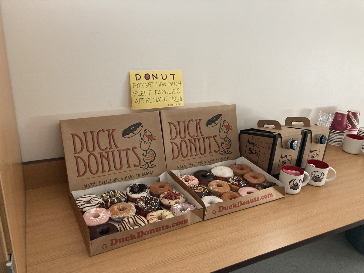 This is why our PTA is better than yours. 🍩🍩🍩 <a target='_blank' href='http://twitter.com/APSFleetPTA'>@APSFleetPTA</a> <a target='_blank' href='http://twitter.com/APS_FleetES'>@APS_FleetES</a> <a target='_blank' href='http://twitter.com/APSLibraries'>@APSLibraries</a> <a target='_blank' href='http://twitter.com/Principal_Fleet'>@Principal_Fleet</a> <a target='_blank' href='http://twitter.com/AP_FleetFalcons'>@AP_FleetFalcons</a> <a target='_blank' href='https://t.co/c8dxQXtfWm'>https://t.co/c8dxQXtfWm</a>