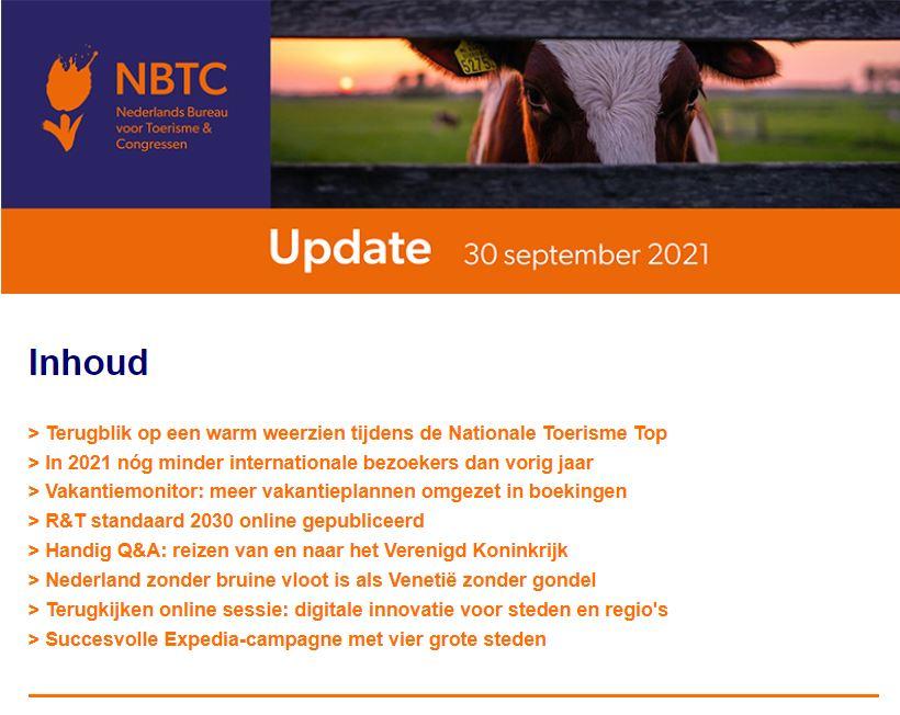 De nieuwe @NBTC update met o.a. Terugblik #ToerismeTop, #Vakantiemonitor, Verwachtingen inkomend #verblijfsbezoek 2021 en meer via: https://t.co/2zBBu7KDJX https://t.co/YMsl574uNR