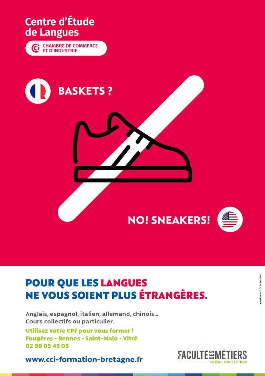 #crea #com #formation           Un concept créa simple et efficace. Jouer avec les faux-amis : so french !