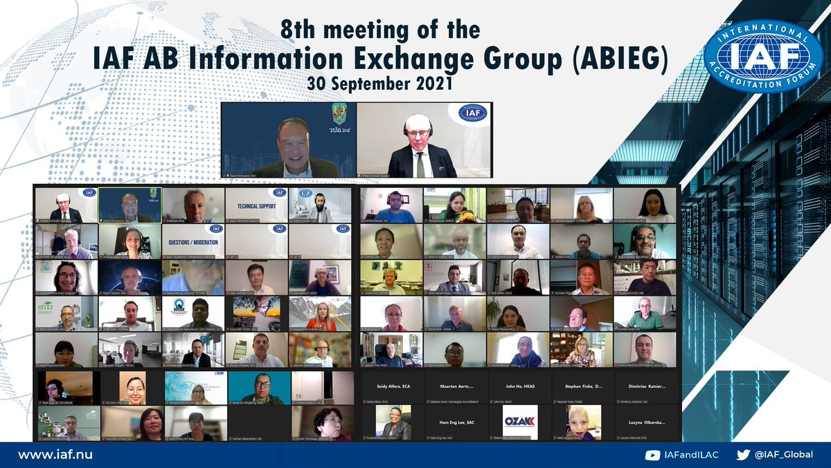 Image for the Tweet beginning: The IAF Accreditation Body Information