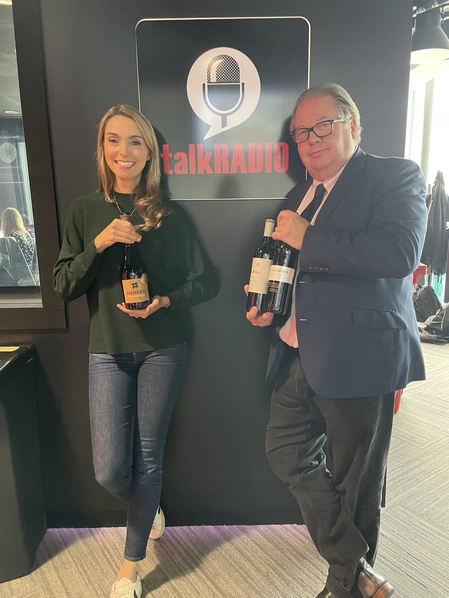 Always lovely to share a glass with the great @Iromg on @talkRADIO 🍷#ThirstyThursday #thursdayclub