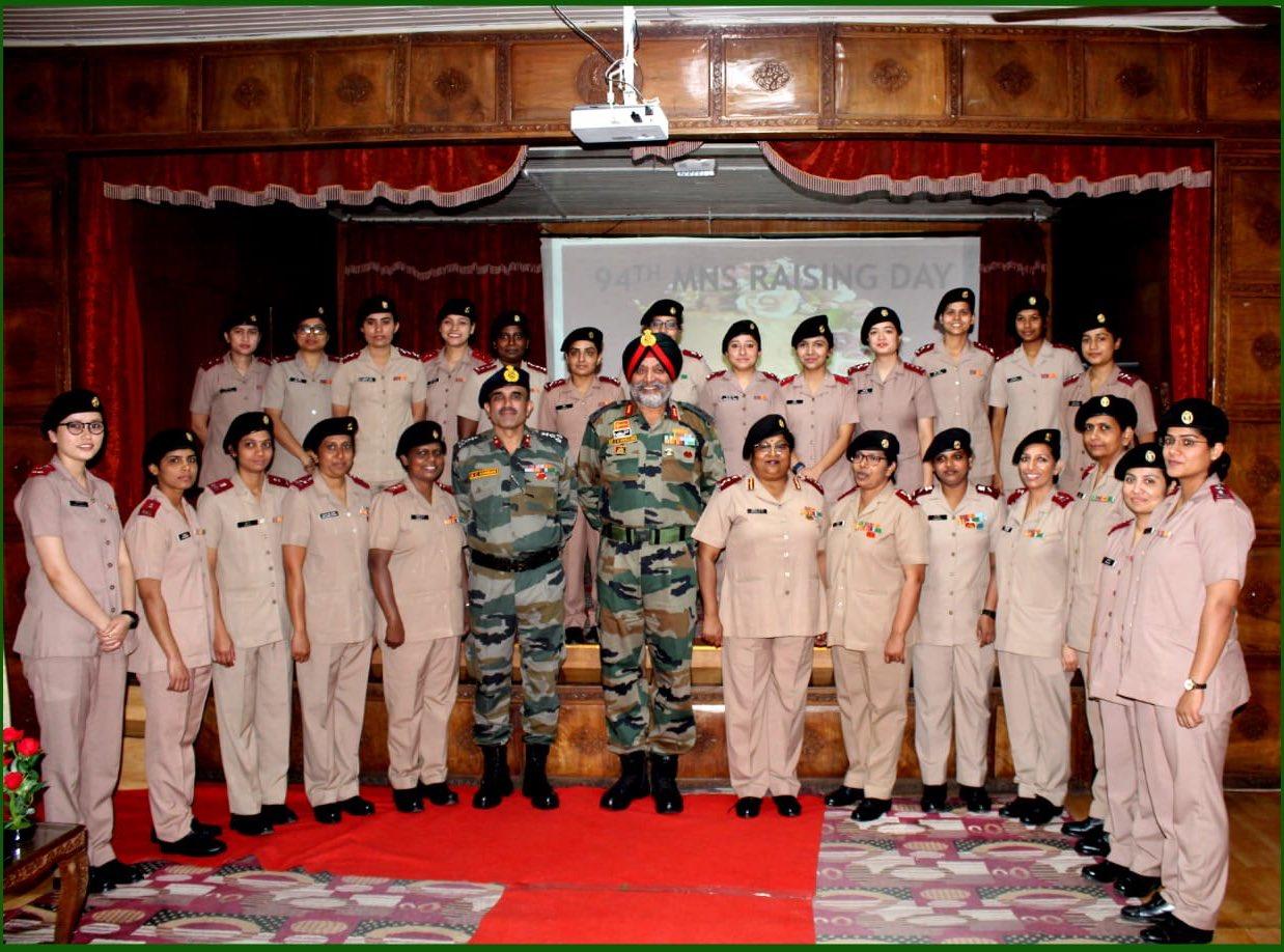 सैन्य नर्सिंग सेवा में लेफ्टिनेंट के रूप में 29 नर्सिंग कैडेट शामिल हुए
