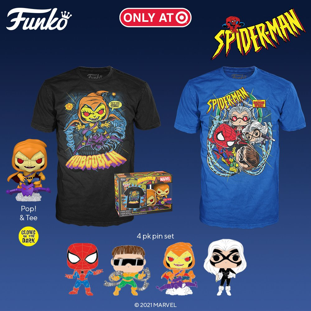 Coming soon: Pop! Marvel: Spider-Man. Pre-order your favorites from the 90s animated series. This is the final series for Marvel Through the Ages exclusively at @Target. Link will be live 10/1! bit.ly/2Y2xVjh #Marvelthroughtheages #Marvel #Funko #FunkoPop