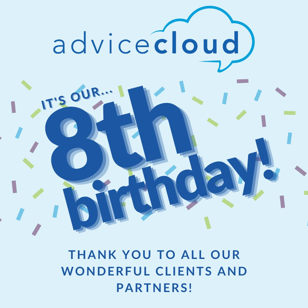 It's Advice Cloud's 8th birthday! Thank you to all of our clients and partners over the years who have helped make public services better. We look forward to many more years, and can't wait to work with more suppliers and get them connecting with the public sector. 🥳🥳🥂🥂