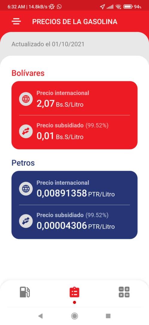 ¿Cuál es el nuevo precio de la gasolina subsidiada en Venezuela?