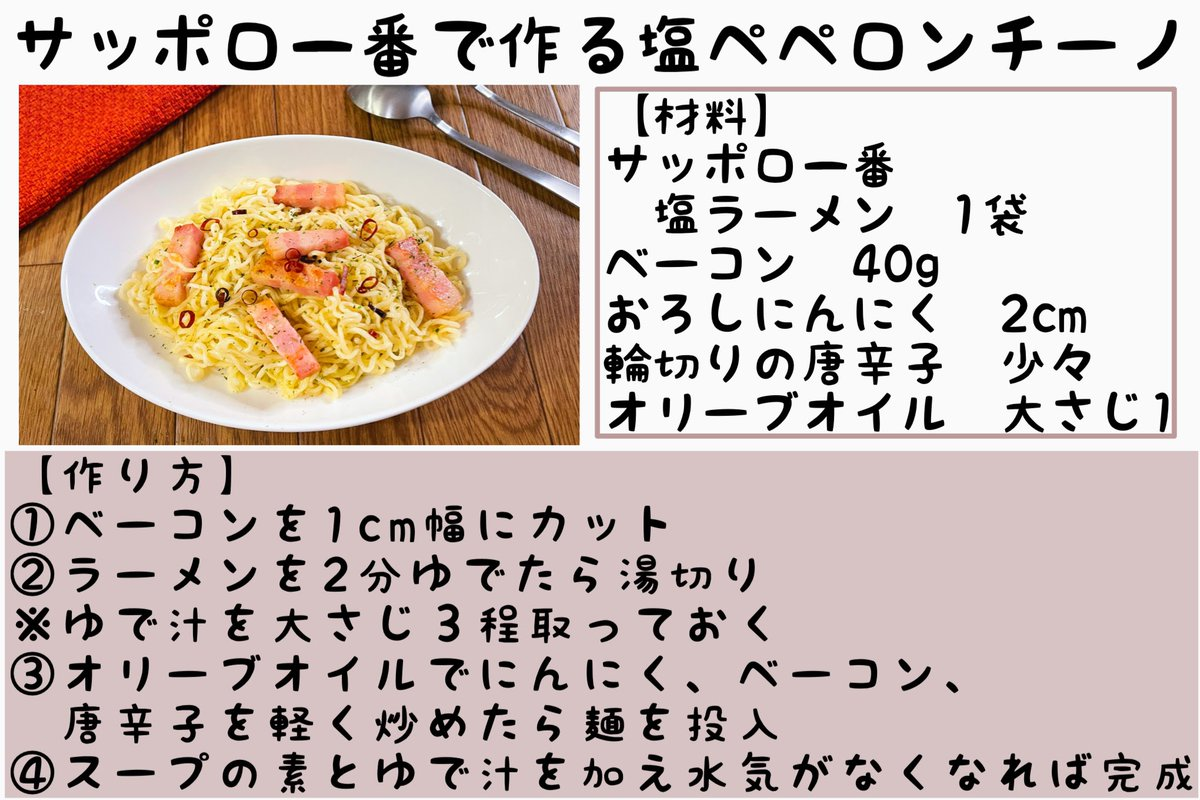 どれもとっても美味しそう!袋麺を使った簡単アレンジレシピ4選!