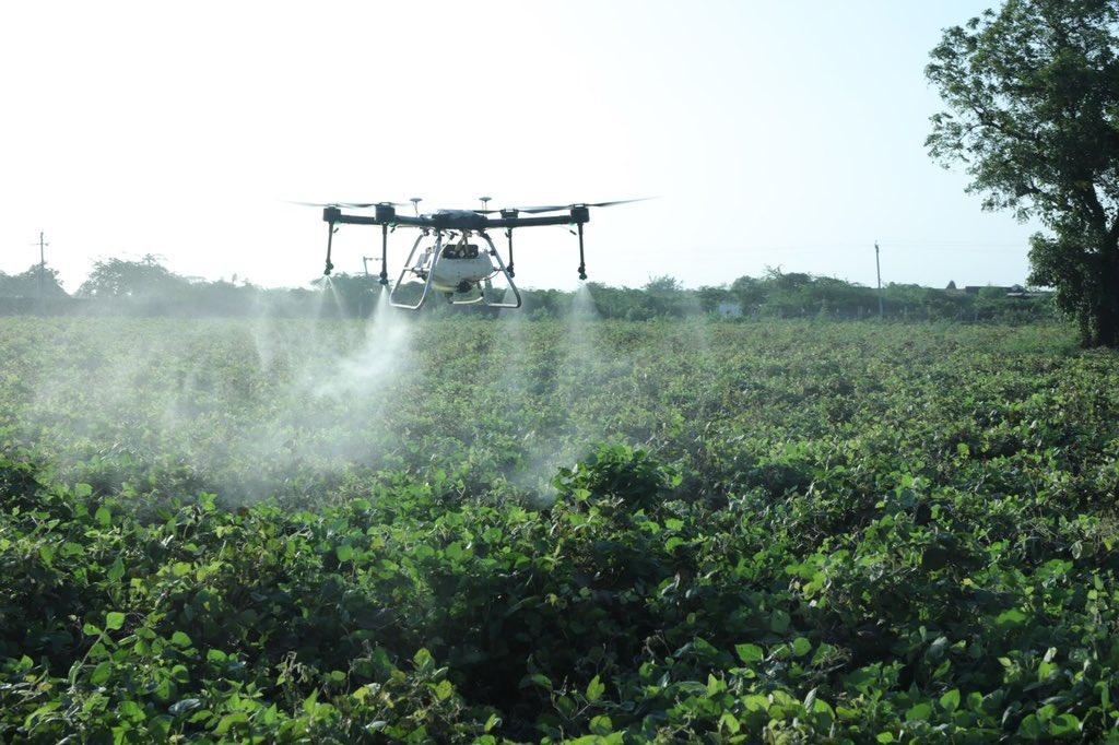 Successful field trial of Drone spraying of Nano Urea undertaken in Gujarat