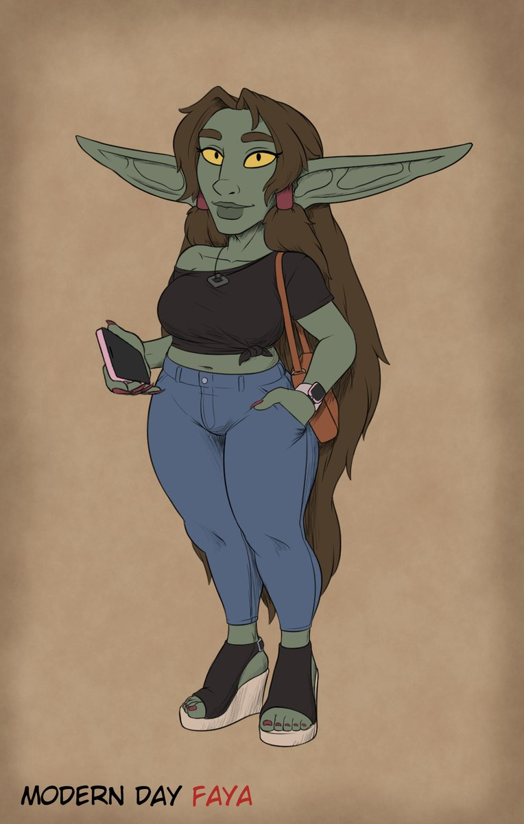 #4 (Prompt 5) - Modern Day Goblin Faya would have a casual but stylish look in the modern day. #gobtober2021 #Gobtober