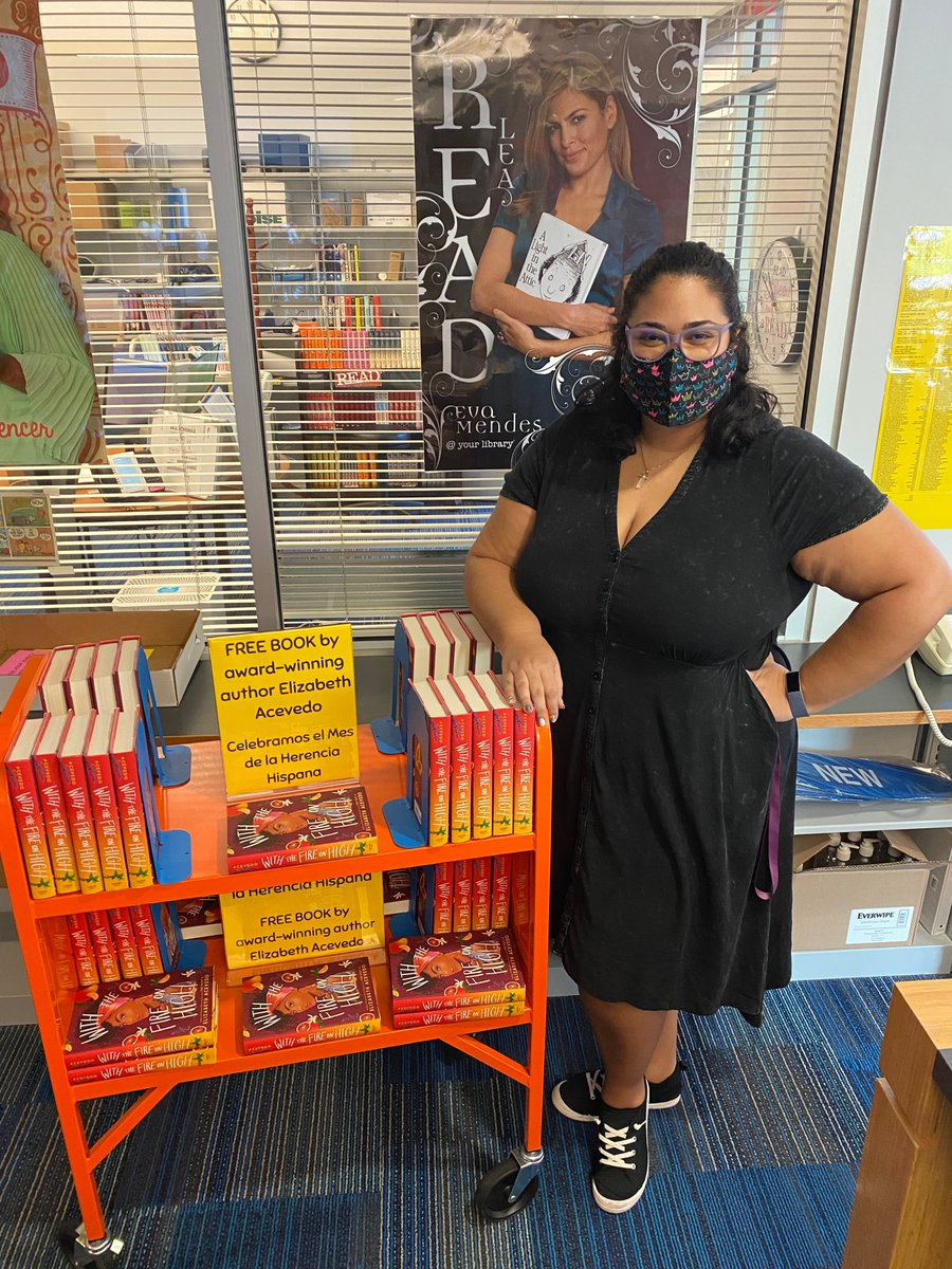 YHS Library continues to celebrate Hispanic & Latinx culture, contributions, and influence with BOOK GIVEAWAYS! Come get your copy of Elizabeth Acevedo's