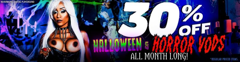 Halloween is the sexiest holiday with slutty vampires and nurses. 🎃 🎃 Get 30% off your favorite horror-themed porn VODs all month long! bit.ly/3zZGHvN