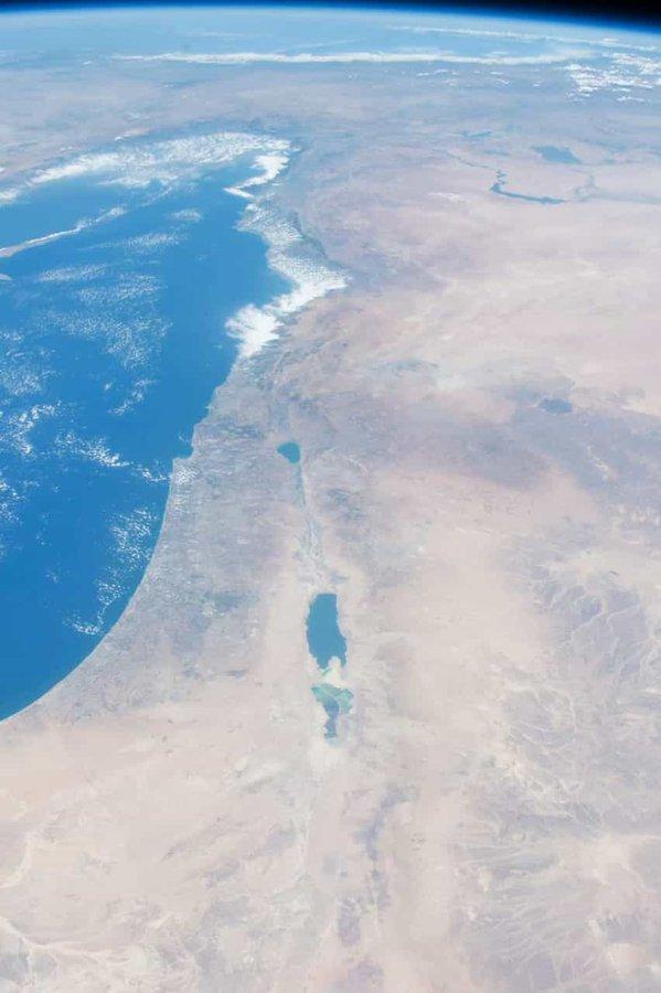 هكذا تبدو إسرائيل من محطة الفضاء الدولية  …