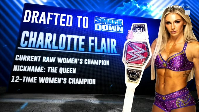 Charlotte Flair a SmackDown es el primer gran cambio del WWE Draft.