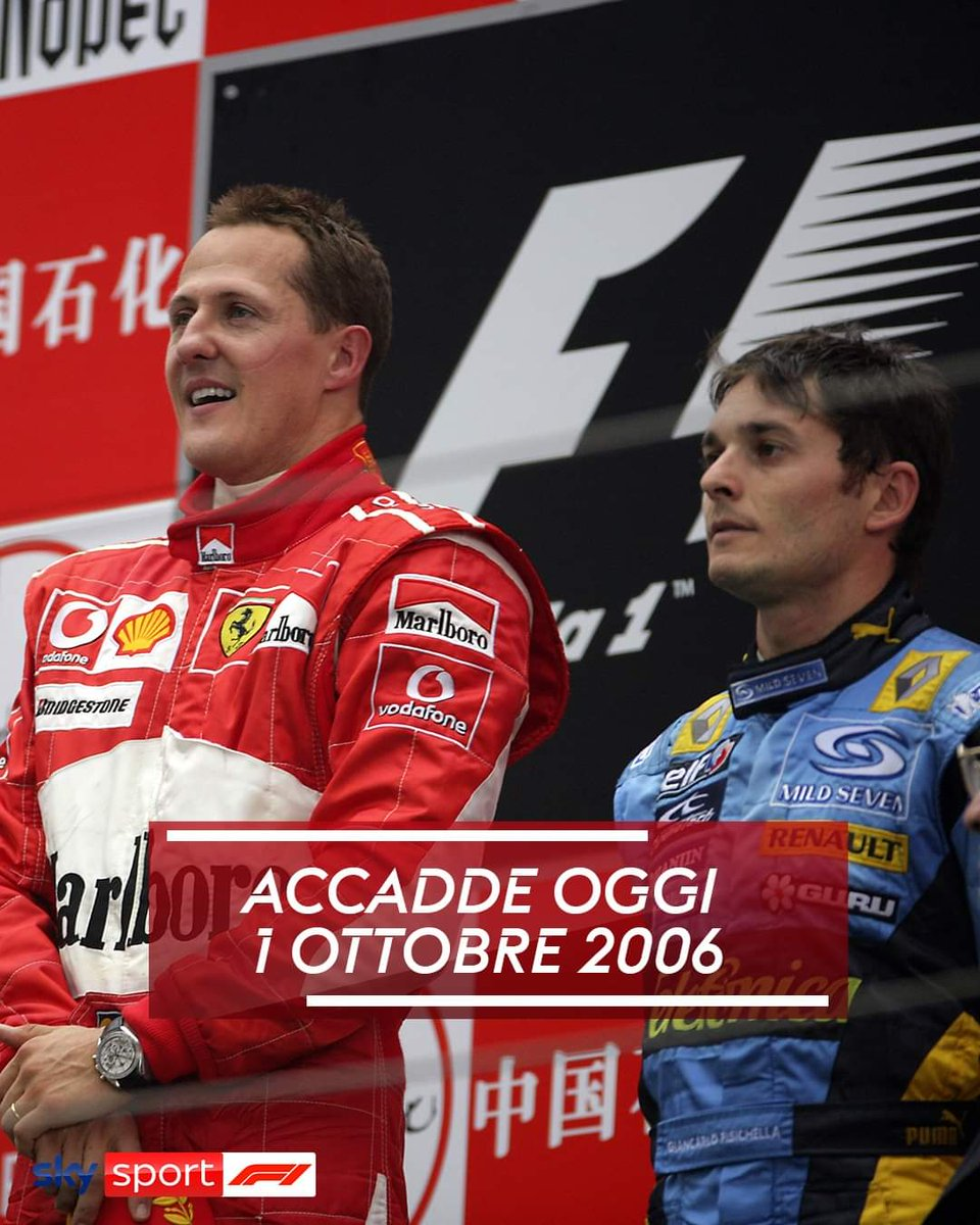 #onthisday it was an honor to be on the podium with you in your latest win in #Formula1 #chinesegp