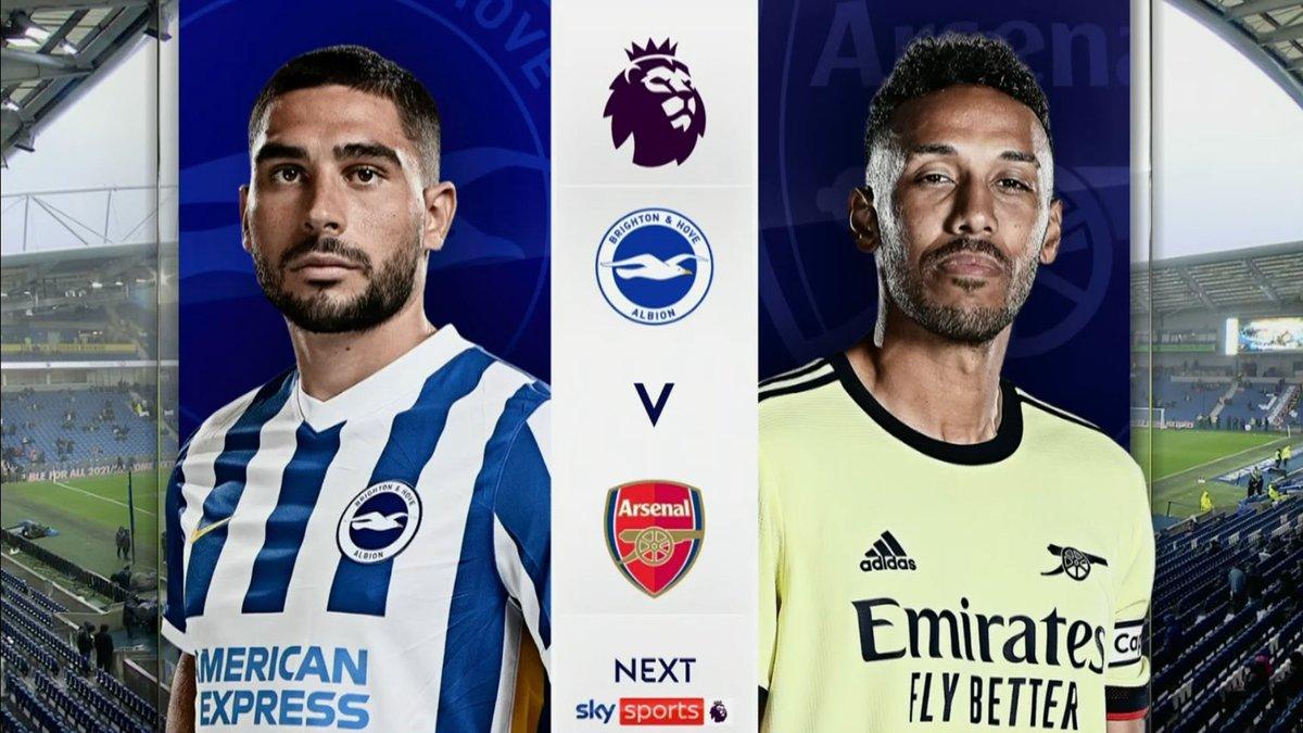 Full match: Brighton & Hove Albion vs Arsenal