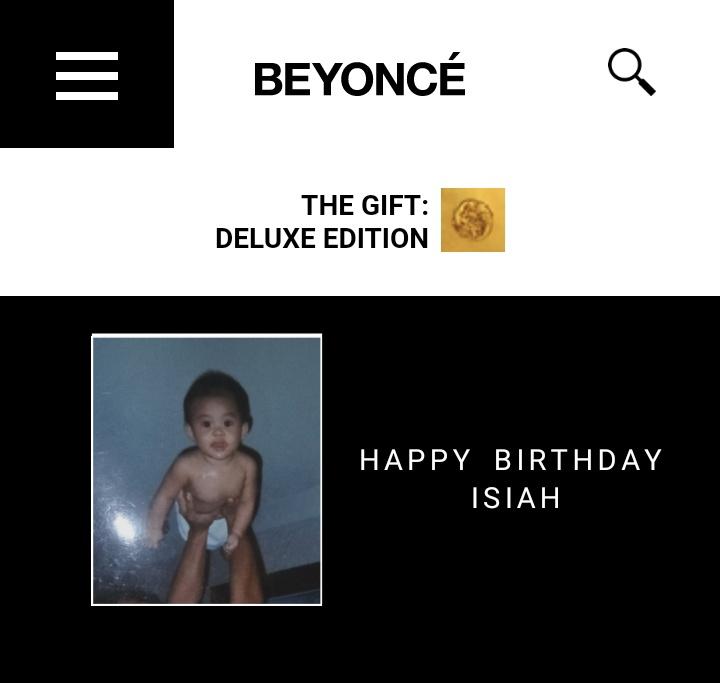 Beyoncé wishes Isiah a happy 17th birthday.
