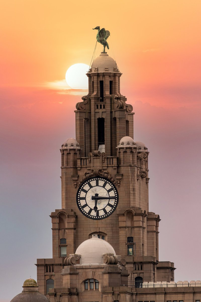 New Competition. RT and follow (if you haven't already) for a chance to win this 12 x 8 inch Sunset over the Royal Liver Building, #Liverpool print. The draw will be on Sunday, 10th October.