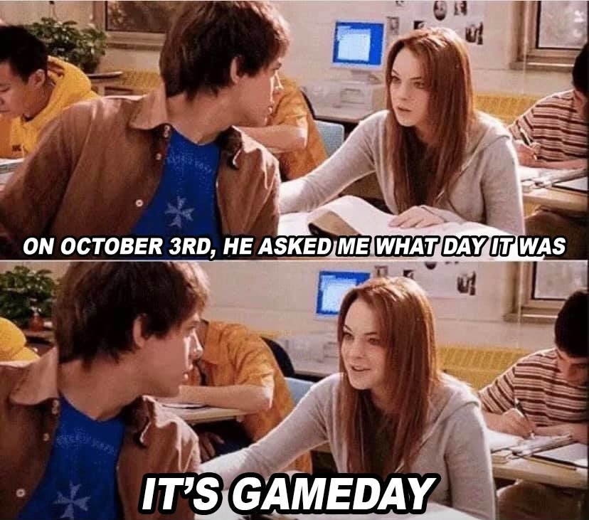 A monumental day in cinematic history also falls on GAMEDAY. #MeanGirlsDay | #DOOP