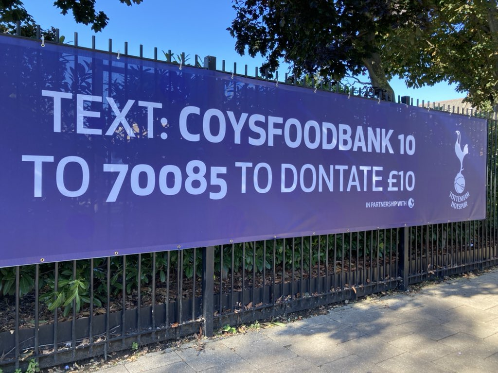 If you can't, how about a financial donation? #COYS @THSTOfficial @SpursOfficial