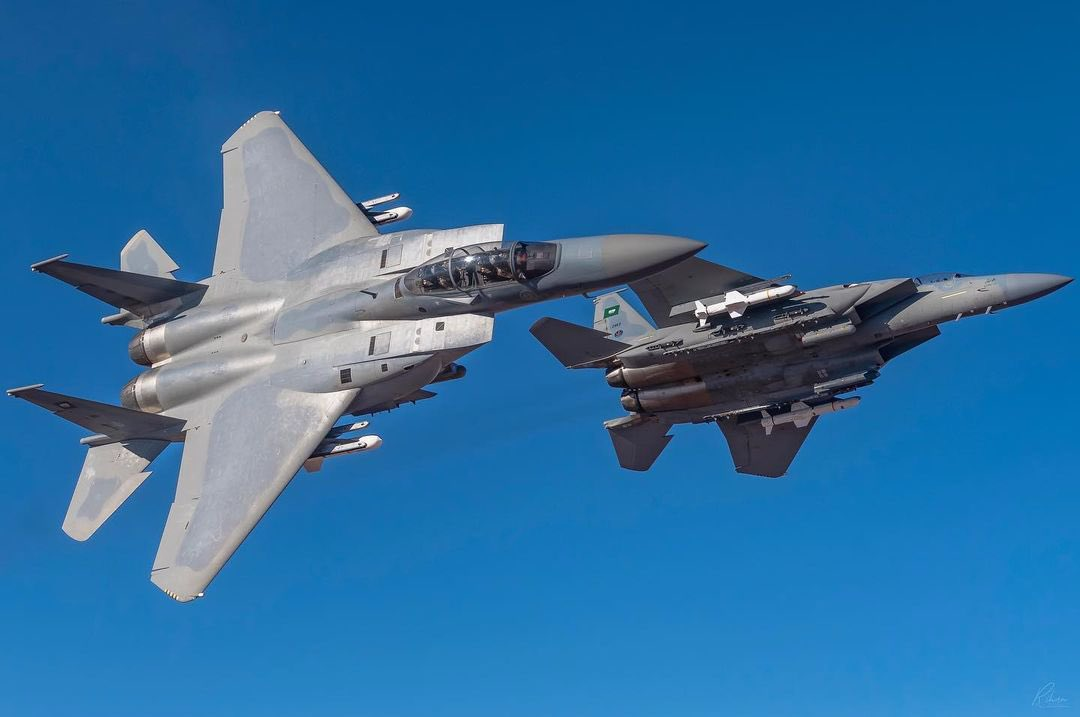 F-15SAs armed with AGM 84L Harpoon missiles