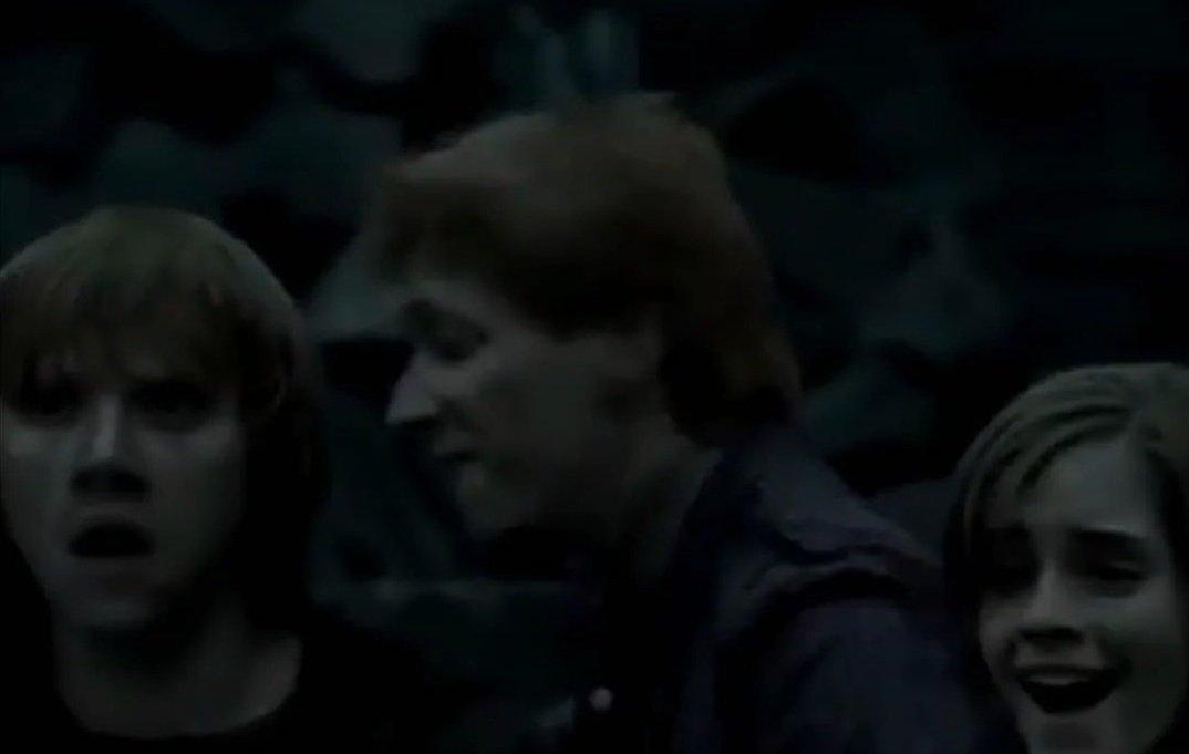 Harry'nin ölmediği öğrenildiğinde George ikizine söylemek için döner ama söyleyecek kimse yoktur.