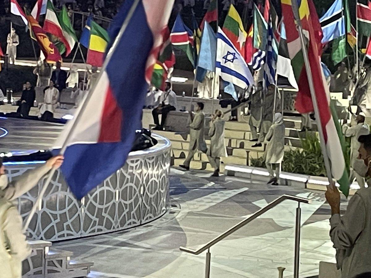 علم إسرائيل يرفرف في معرض اكسبو دبي ٢٠٢١. هذه هي المرة الأولى التي يكون لإسرائيل جناح خاص في حدث كبير…