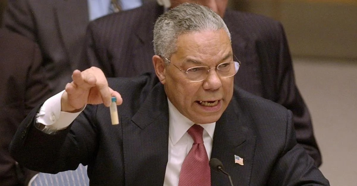 Colin Powell knew that Iraq had never weaponized anthrax into such powdered form. He knew its aluminum tubes were intended for a rocket program, not uranium enrichment centrifuges. He dutifully lied to help start a murderous war of aggression.