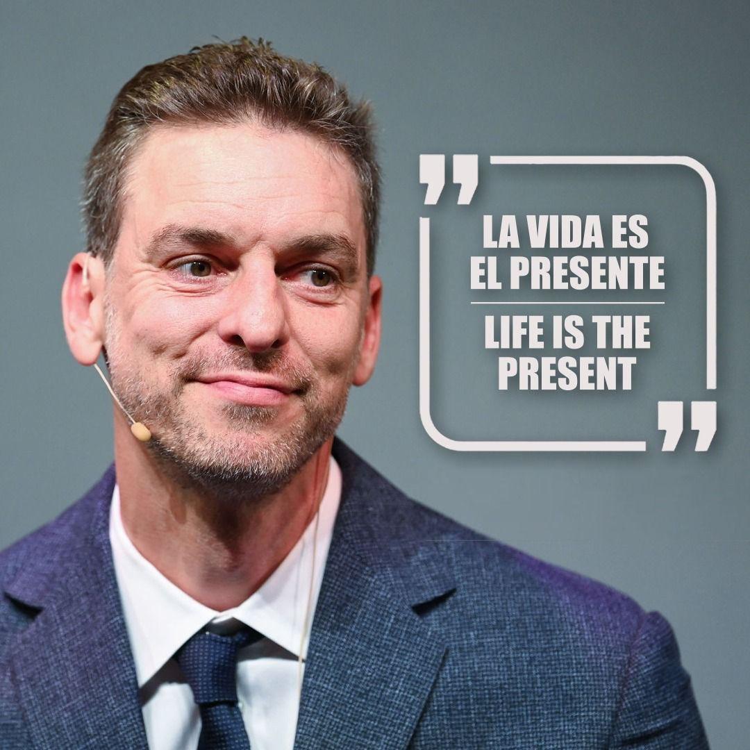 La vida es el presente Life is the present