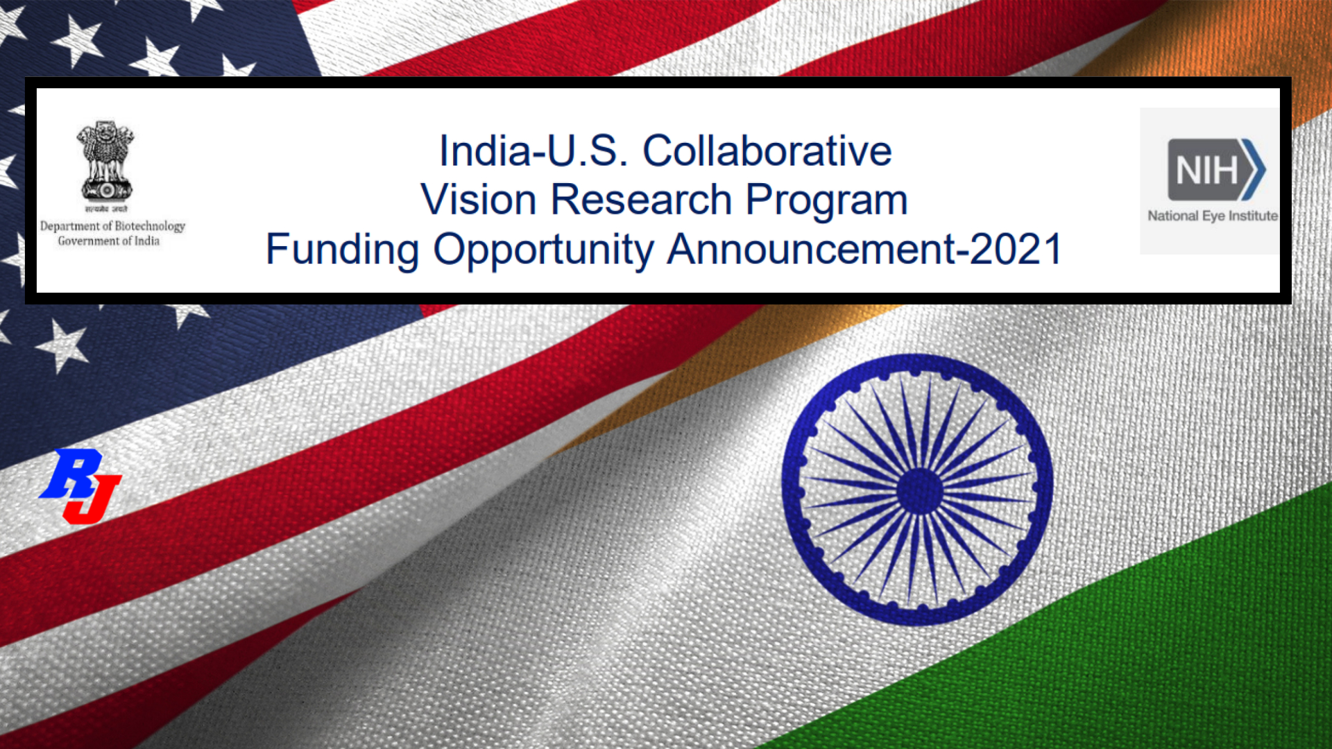Research Project Grant by India-U.S. Collaborative Vision Research Program