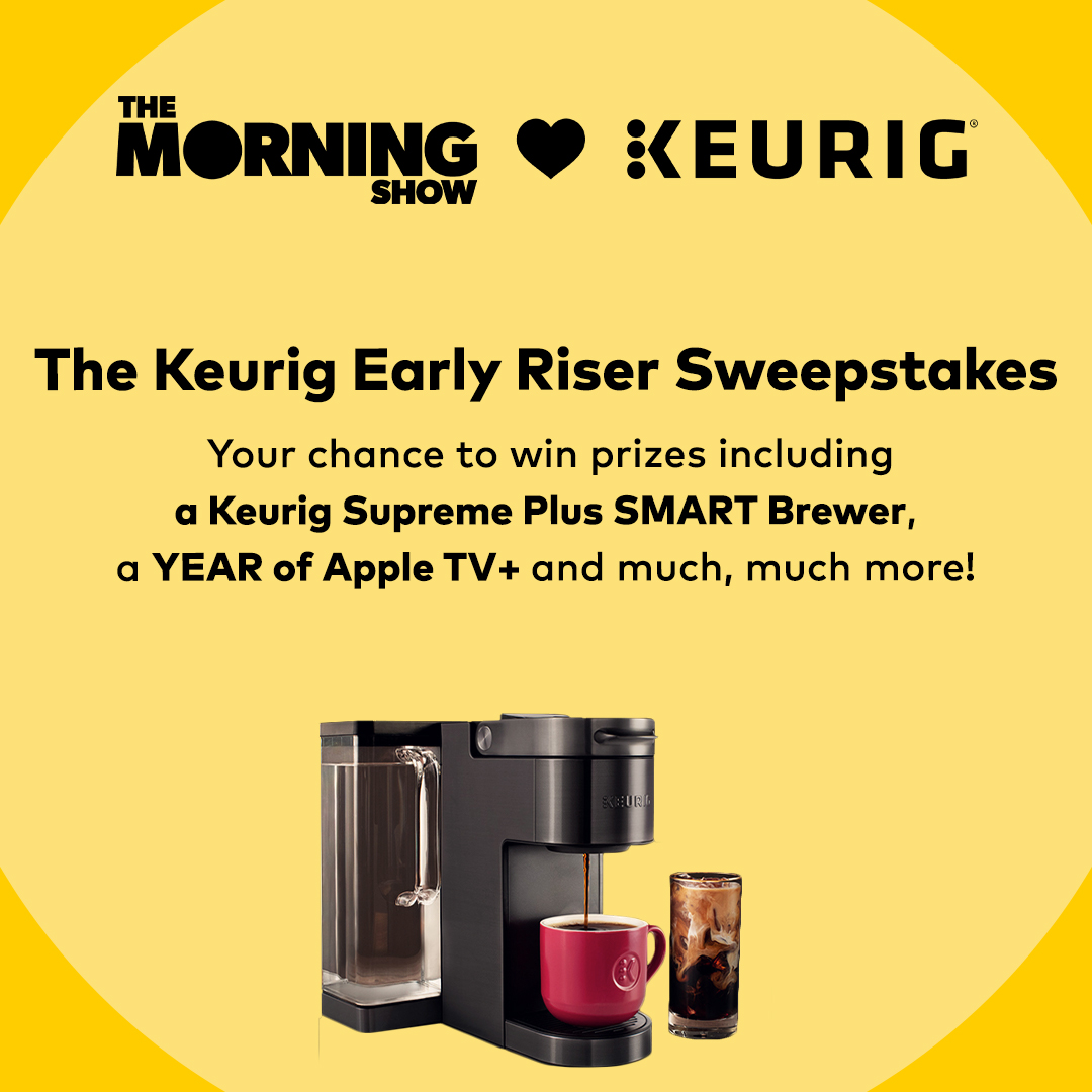 Inspired by @TheMorningShow on @AppleTV, we want to give you the chance to win exciting prizes like a year of free coffee, a Keurig Supreme Plus Smart brewer and more! Visit krg.bz/3BMnBLt for more details: krg.bz/3Bzf66a