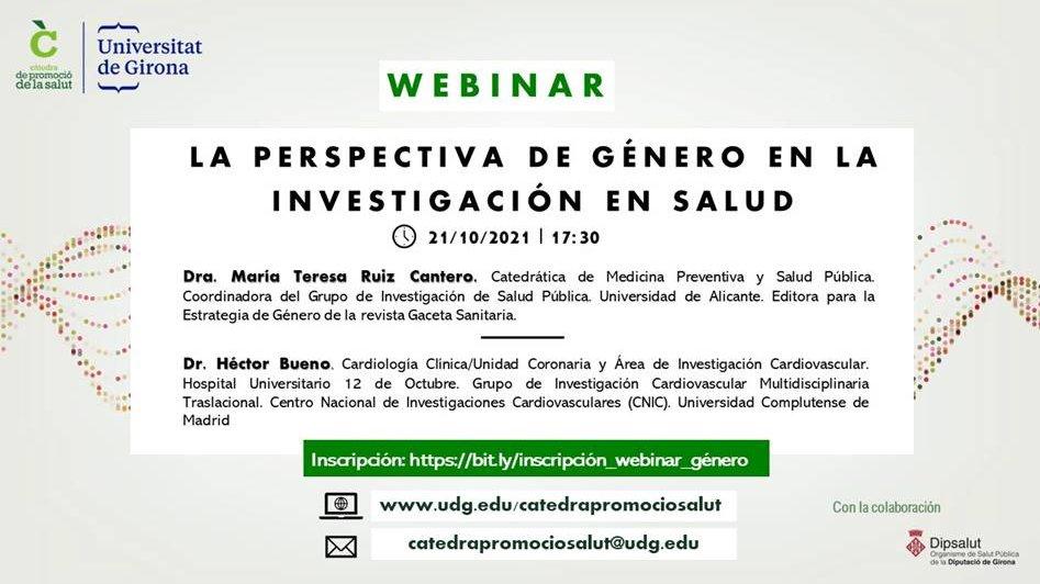 test Twitter Media - Sessió Webinar: La prespectiva de gènere en la investigació en salut  📅21/10/21 a les 17:30h  @CpromosalutUdG  Més informació👉https://t.co/fmAmrmtyPY https://t.co/II3uGiHDSU