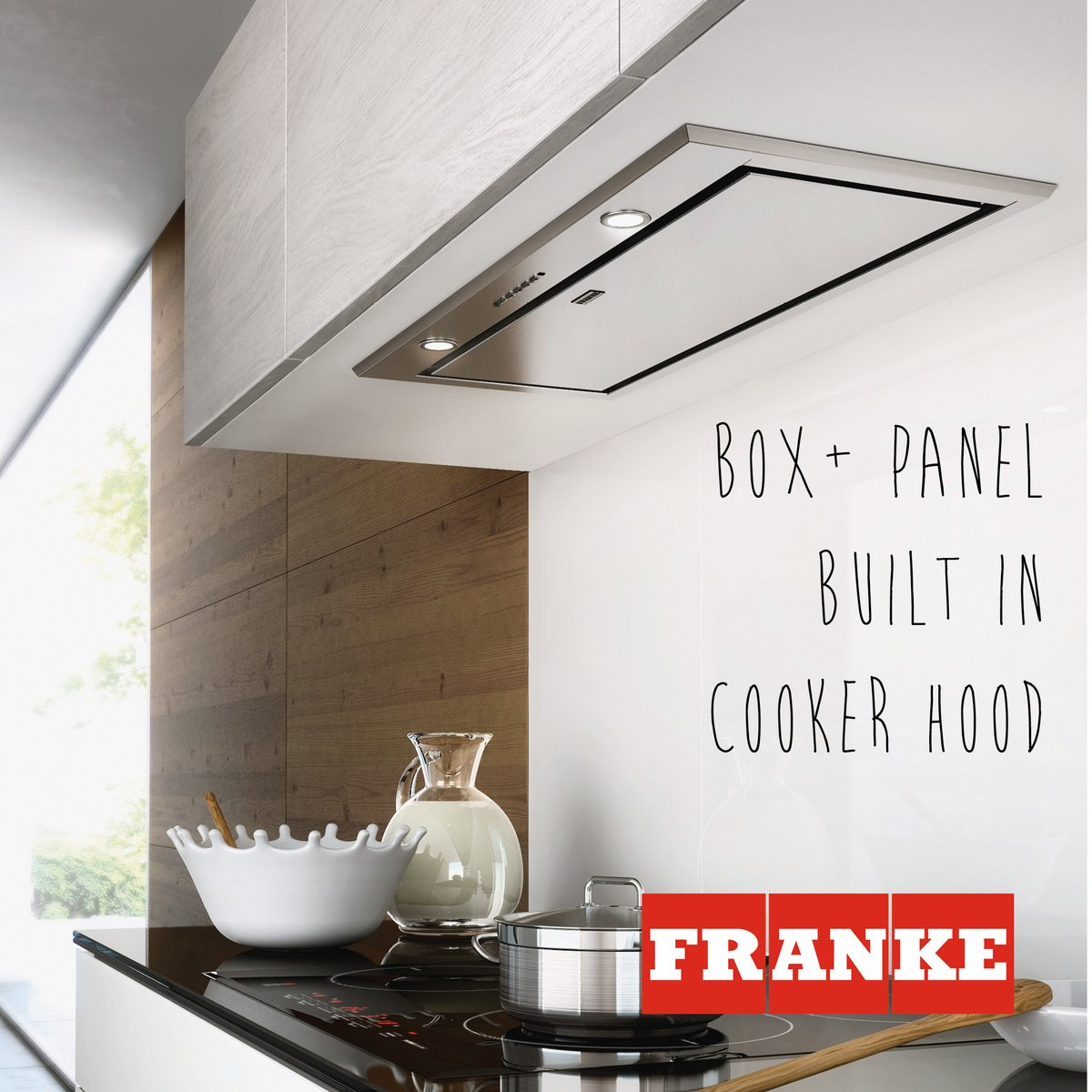 The Box+ panel cooker hood is a stylish built in hood which offers great benefits of perimetric extraction combined with crisp, gleaming good looks. It's slim 5mm profile below the cabinet gives a streamlined aesthetic, perfect for a compact kitchen. ow.ly/LrxK50GhcAy
