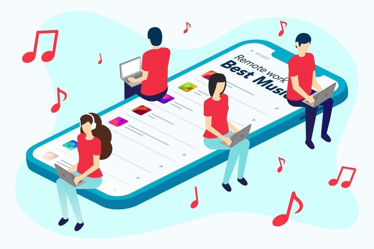 【過去作ったデザイン100個振り返り!】18個目は入社半年頃に作ったアイキャッチ。記事の内容を表現したく、プレイリストの上で音楽を聴いている人をビジュアル化しました。要素が多くても色数を絞ることで子どもっぽくならないよう意識して作りました!#おまめの成長記録