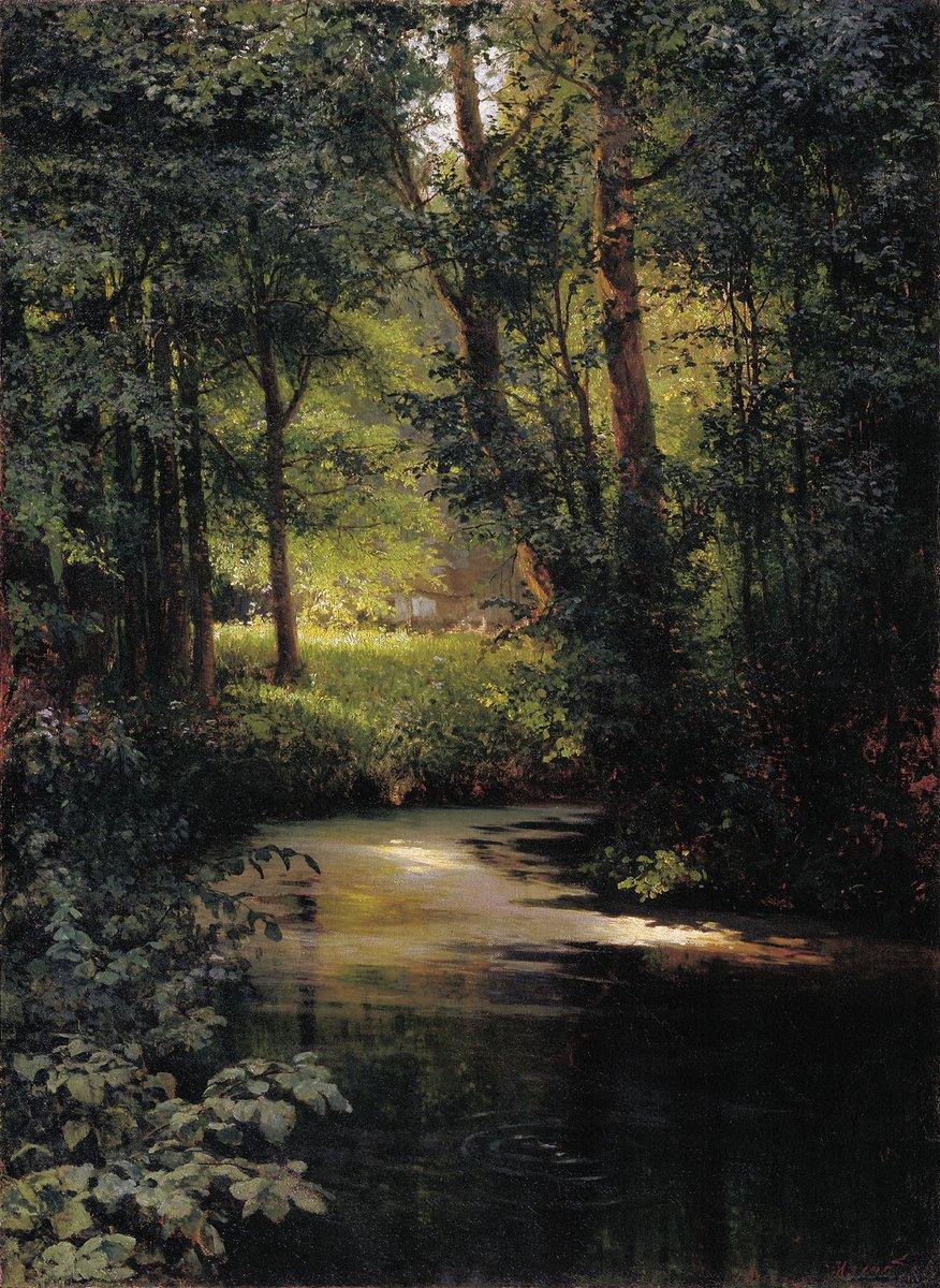 'Forest Creek' (1890) by Grigoriy Myasoyedov