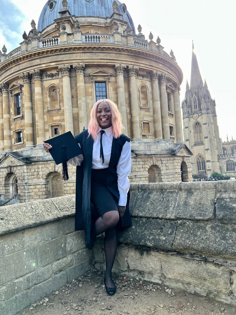 Black Excellence at Oxford University. Love to see it. Love to be it. 🙌🏾✊🏾👏🏾 It's OFFICIAL and written in HISTORY! I've now been MATRICULATED 🎓 #CuppyDat