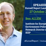 Image for the Tweet beginning: 📢 SPEAKER  At the #EurosifReport launch