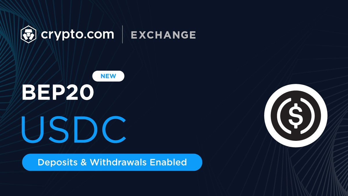 Crypto.com Exchange now supports deposits and withdrawals of $USDC via BEP20, in addition to ERC20, Arbitrum and the Polygon Network. *Available for Exchange Web only. Coming soon to the Exchange App. Sign Up 👉 crypto-exchange.onelink.me/E54m/6cf81eb9